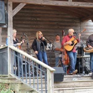 Band performing at North Carolina State Fair, 2018