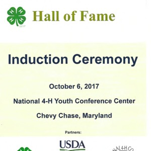 4H Hall of Fame Program