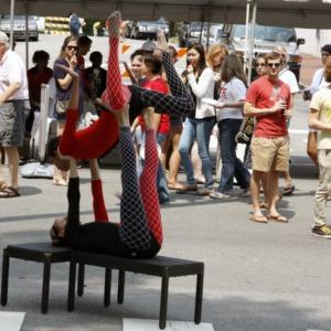 Acrobats At Packapalooza 2012