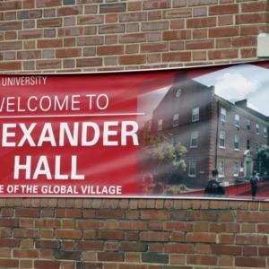 Banner On Alexander Hall