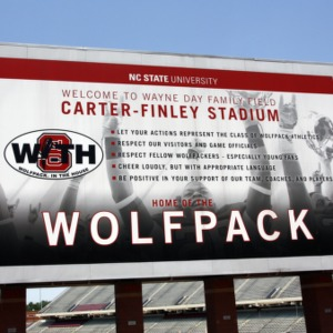 Billboard At Carter Finley Stadium