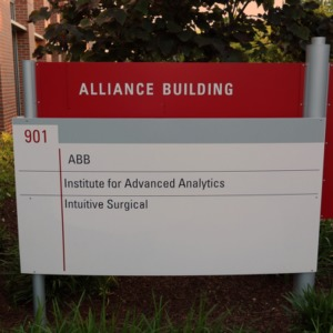 Alliance Building Sign May 2017