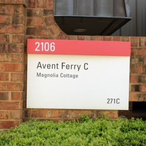 Avent Ferry C Magnolia Cottage Sign May 2017