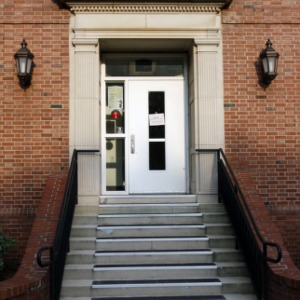 Door to Alexander Residence Hall