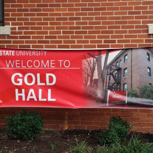 Gold Residence Hall banner