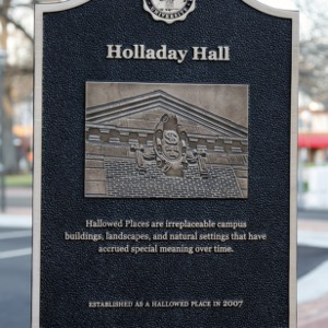 Hallowed Places Plaque, Holladay Hall