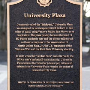 Hallowed Places Plaque, University Plaza