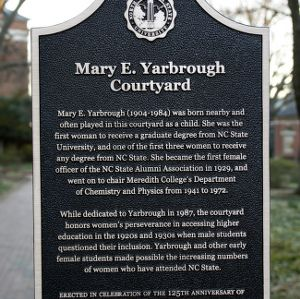 Hallowed Places Plaque, Mary E. Yarbrough Courtyard