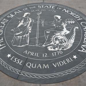 State seal at North Carolina Veterans Park