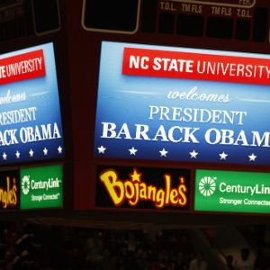 Video Display at Obama speech