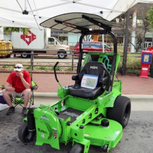 Battery Powered Mower at Packapalooza, August 2016