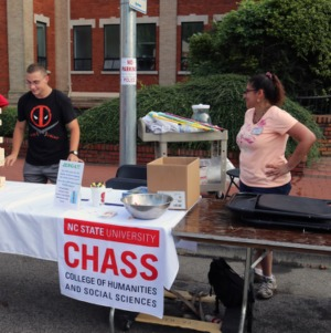 CHASS table at Packapalooza 2014