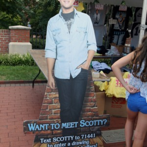 Cut-out stand-up of Scotty McCreery at Packapalooza 2014