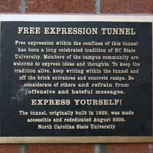 Plaque at Free Expression Tunnel