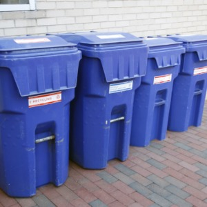 Recycling Bins At Ricks Hall Annex