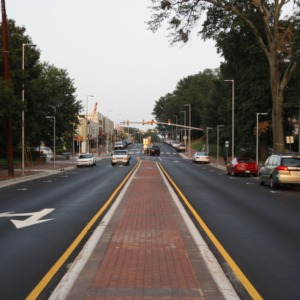 Hillsboro Street after Roundabout Project