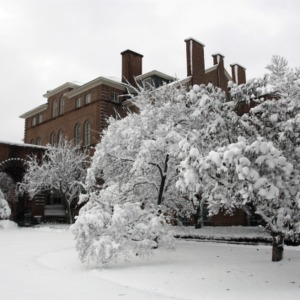 Snow at Holladay Hall