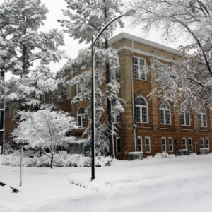 Snow at Patterson Hall