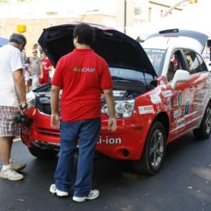 Eco Car at Dedication of renovated Hillsborough Street corridor