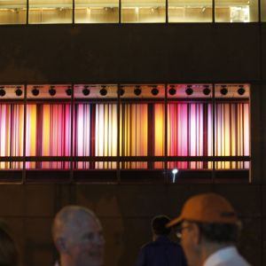 Color Wall at Dedication of renovated Hillsborough Street corridor