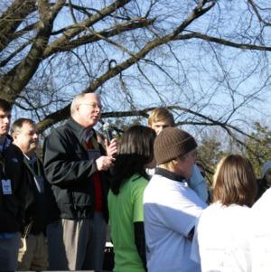 Chancellor Oblinger at the 2009 Krispy Kreme Challenge