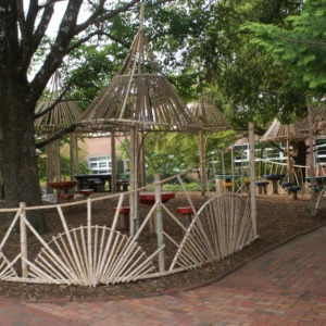 Kilgore Hall Bamboo structures