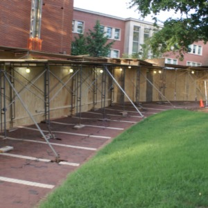 Brick Repair for Wall of D.H. Hill Library