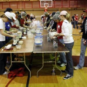 Haiti Earthquake Relief, Packing Meals