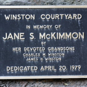 Plaque At McKimmon Center