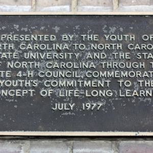 Plaque At McKimmon Center Fountain