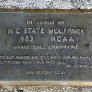 Plaque at Brickyard's Flag Pole