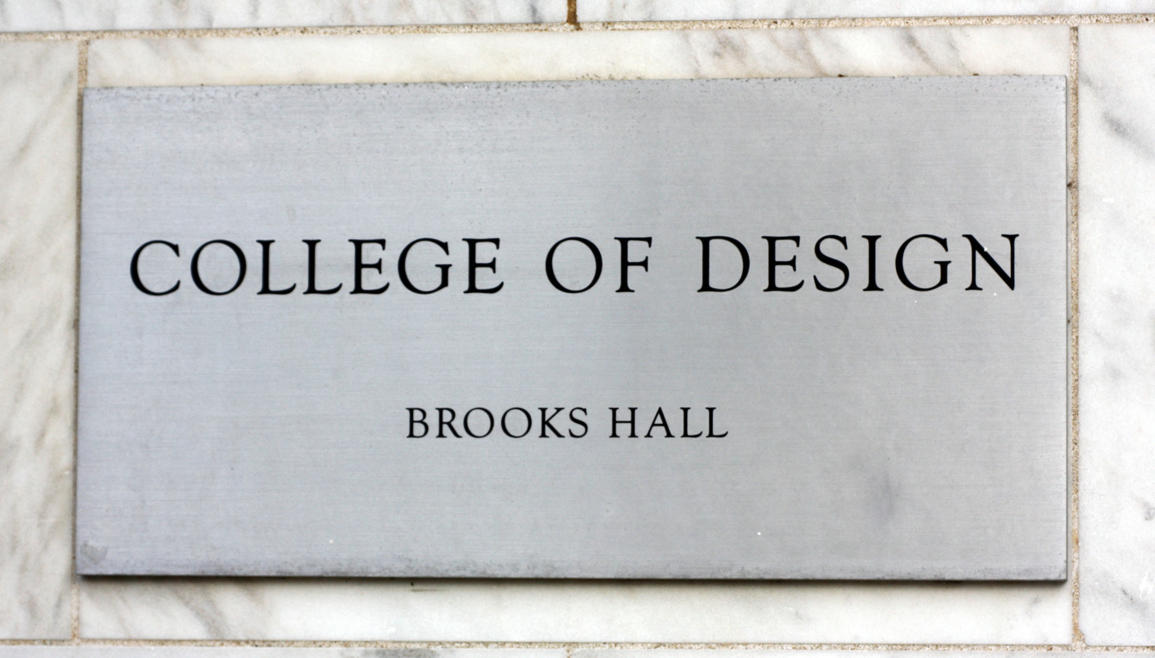 Plaque at Brooks Hall