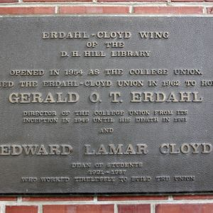 Plaque at Erdahl Cloyd