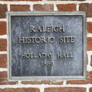 Plaque at Holladay Hall
