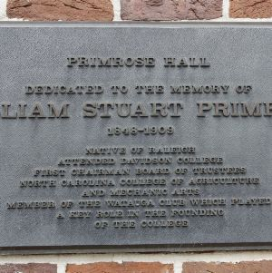 Plaque at Primrose Hall