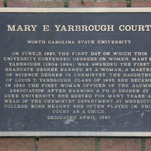 Plaque at Yarbrough Court