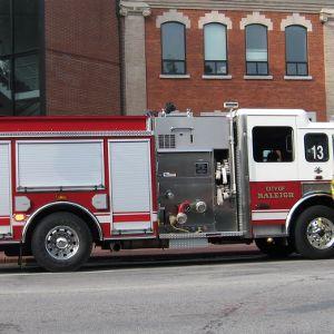 Raleigh Firetrucks on Campus