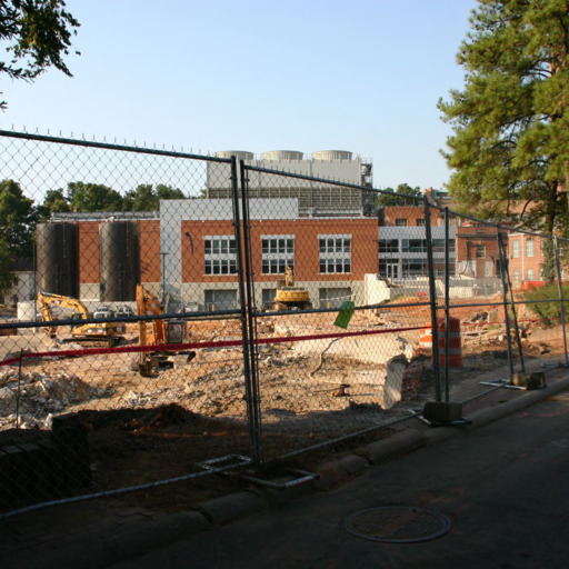 SAS Hall (Math and Statistics Building) site demolition of Riddick Morris