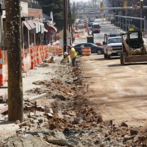 Hillsborough Street roundabout construction