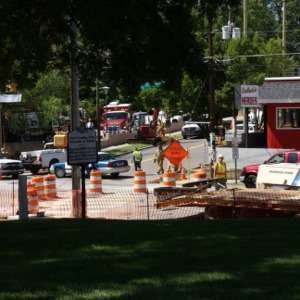 Gas leak on Hillsborough Street during construction