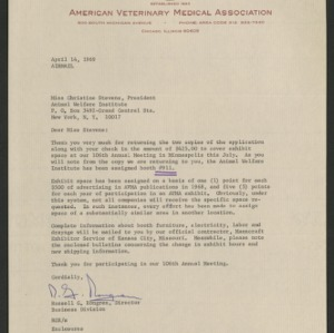 American Veterinary Medical Association -- annual meeting 1969 (Minneapolis)
