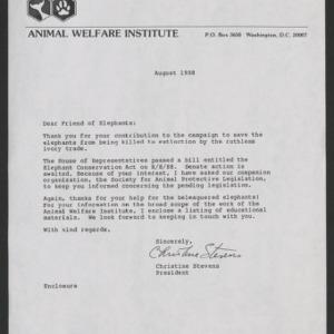 Correspondence, Elephants