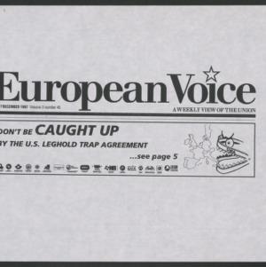 U.S. Leghold Trap Agreement -- European Voice Ad