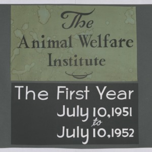 Animal Welfare Institute Scrapbook