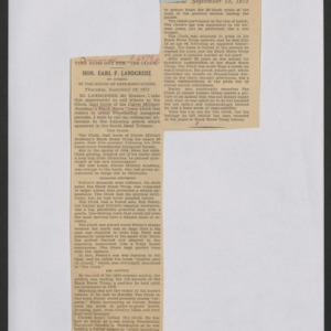 Congressional Letters and Bills