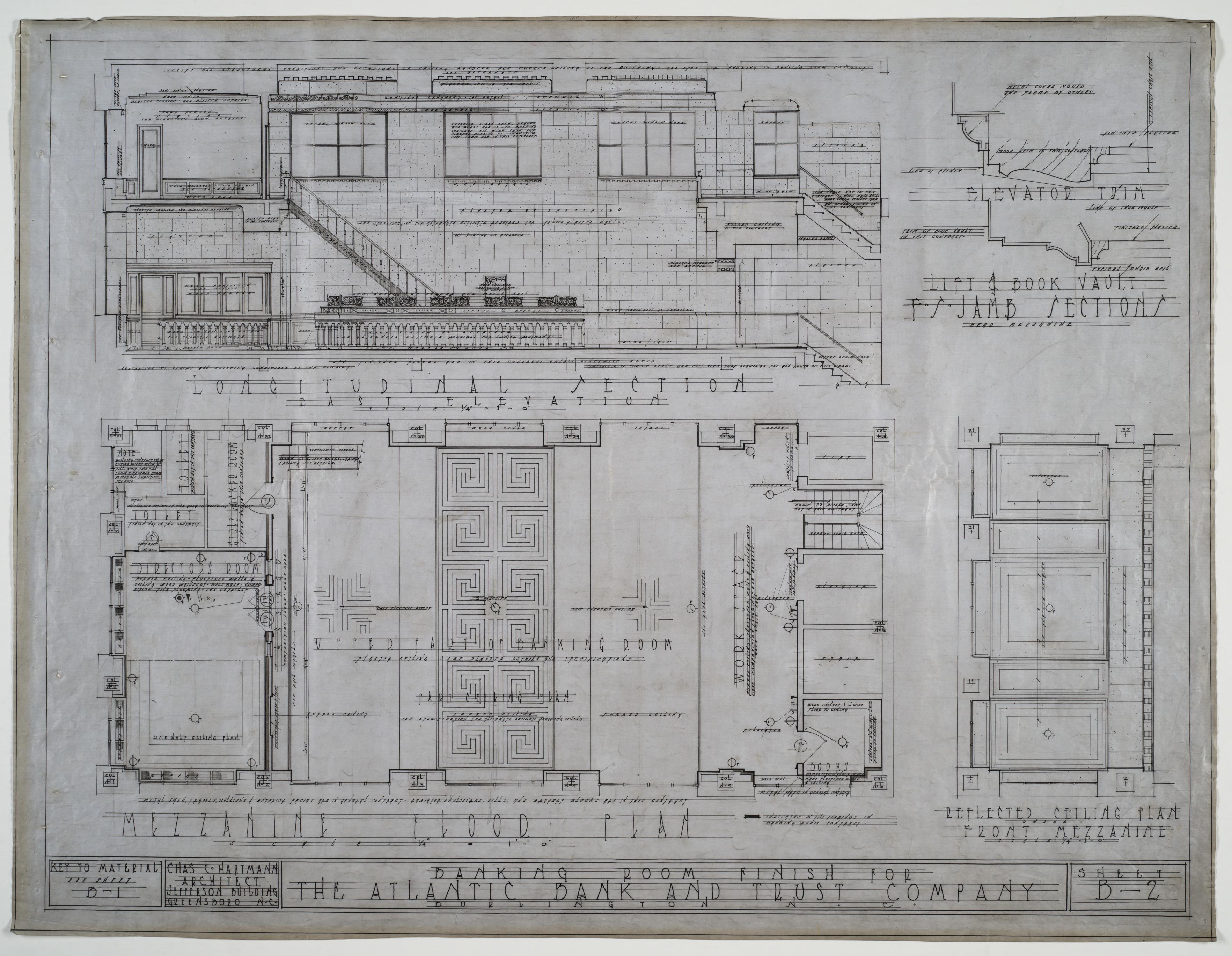 Mezzanine floor plan elevation and ceiling atlantic bank for Mezzanine floor plan