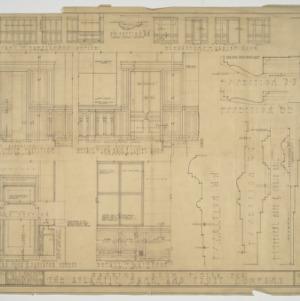 Interior façade details and cutaways