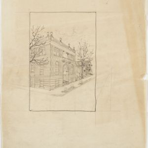 Perspective drawing, Unidentified building