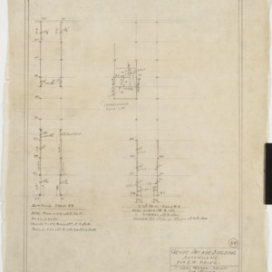 Intermediate floor and second floor details