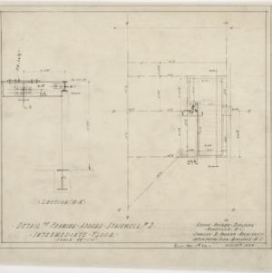 Detail of framing around stairway #2, intermediate floor
